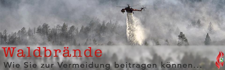 Waldbrand Feuerwehr Hubschrauber