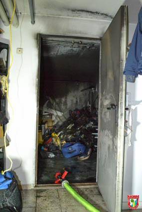 Feuerwehr Vaterstetten Kellerbrand Einsatz